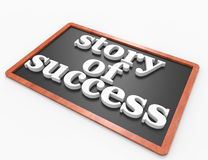 Story of success word on blackboard Stock Images