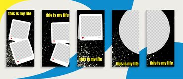Story template vector style instagram. Commercial template.  stock illustration