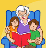 Story Time with Grandma Stock Photography