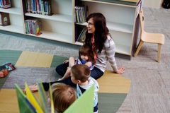 Story time at the library Stock Photo