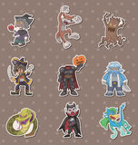 Story villain stickers Royalty Free Stock Photo