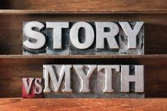 Story vs myth Stock Photo