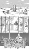 Storyboard με ένα πολυτελές διαμέρισμα στοκ εικόνα