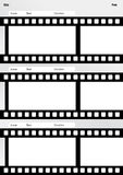 Storyboard film template vertical Stock Image