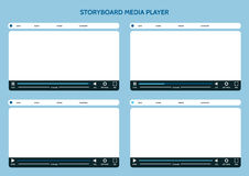 Storyboard media player Royalty Free Stock Photography