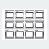 Storyboard template reel Royalty Free Stock Images
