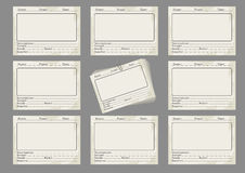 Storyboard template in retro style Royalty Free Stock Image