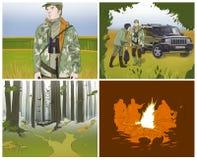 Storyboards de la caza Fotos de archivo