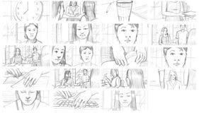 Storyboards del lápiz Imagen de archivo