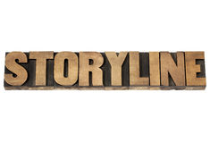 Storyline in wood type Royalty Free Stock Image
