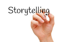 Storytelling Black Marker Royalty Free Stock Photography