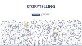 Storytelling Doodle Concept royalty free illustration