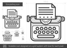 Storytelling line icon. Royalty Free Stock Images