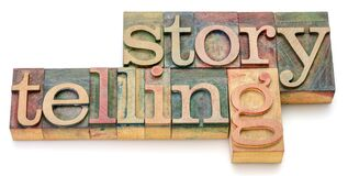 Free Storytelling Word Abstract In Wood Type Royalty Free Stock Photos - 217223288