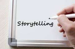 Storytelling written on whiteboard Stock Image