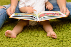 Storytime with Mother and Baby royalty free stock photo