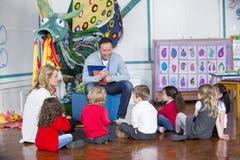 Storytime at Nursery Royalty Free Stock Photos