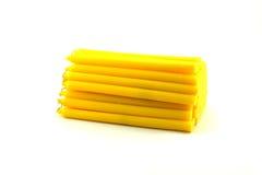Stos żółty candel Obraz Royalty Free