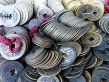 Stos antyczne monety Obraz Stock