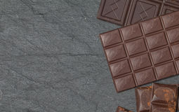 Stos asortowani czekoladowi bary fotografia stock