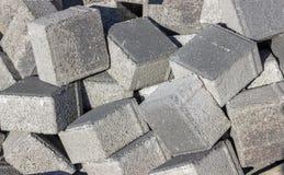 Stos betonowi sześciany Zdjęcie Royalty Free