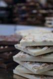 Stos biała czekolada Fotografia Stock