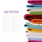 Stos bieliźniani kuchenni ręczniki Zdjęcia Royalty Free
