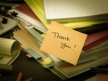 Stos Biznesowi dokumenty; Dziękuje Ciebie Zdjęcie Royalty Free