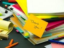 Stos Biznesowi dokumenty; Dziękuje Ciebie Zdjęcia Stock