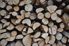 Stos brogująca łupka w wiejski ogrodowym przygotowywającym dla zimy Przygotowanie dla zimy Drewniany bela abstrakta tło Suszę sie Obrazy Stock