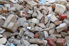 Stos budowa odpady fotografia royalty free