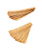 Stos crispy chlebów układy scaleni odizolowywający Fotografia Stock