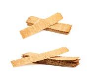 Stos crispy chlebów układy scaleni odizolowywający Fotografia Royalty Free