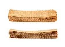 Stos crispy chlebów układy scaleni odizolowywający Obrazy Stock