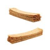 Stos crispy chlebów układy scaleni odizolowywający Obraz Stock