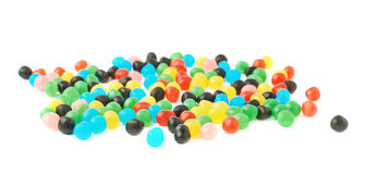 Stos cukierków balowi cukierki odizolowywający Obrazy Stock