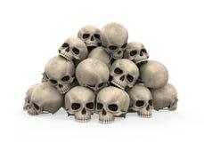 Stos czaszki royalty ilustracja