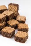 Stos czekoladowi opłatków ciastka obrazy royalty free