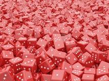 Stos czerwoni kostka do gry Zdjęcia Stock