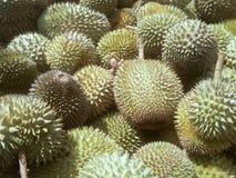 Stos dojrzała durian owoc gotowa sprzedaż zdjęcia stock