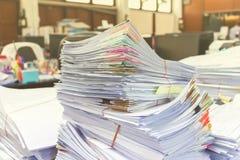 Stos dokumenty na biurku Obraz Stock