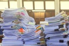 Stos dokumenty na biurku Zdjęcie Stock