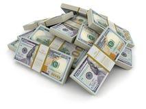 Stos dolary (ścinek ścieżka zawierać) Obrazy Stock