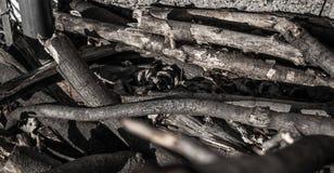 STOS drewna NA podłodze obraz royalty free