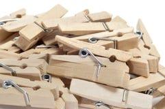 Drewniani clothespins Obraz Royalty Free