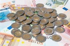 Stos euro monety Fotografia Stock
