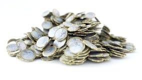 Stos 1 euro monety kruszcowe, błyszczący, 3d rendering fotografia stock