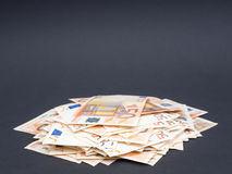 Stos euro pieniądze Fotografia Royalty Free