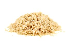 Stos gotowani brown ryż zdjęcie royalty free