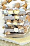 Stos hazelnuts czekoladowi Fotografia Royalty Free